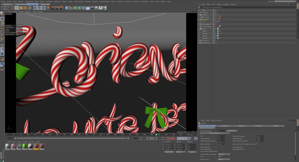 christmas 2016 3d typography basque wip