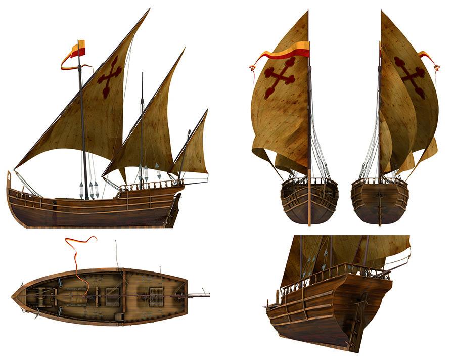 Un avance con los materiales del barco colocados