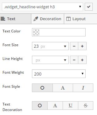 SiteOrigin Custom CSS Visual Tabs