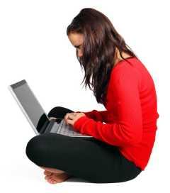 Girl Blogging on WordPress