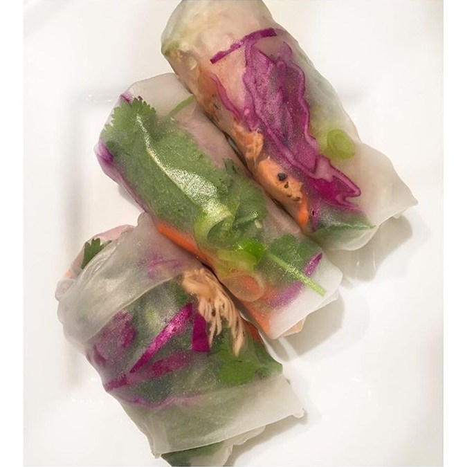 Vietnamese Chicken Spring Rolls Recipe