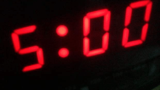 5am clock face