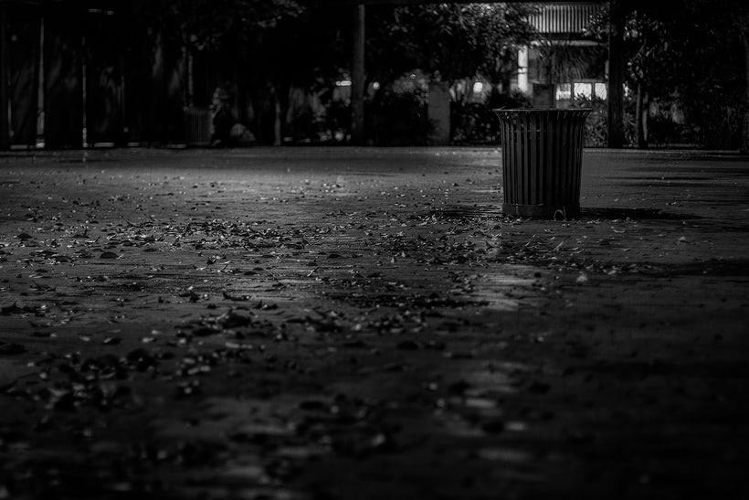 Downtown Phoenix Urban Trash Can