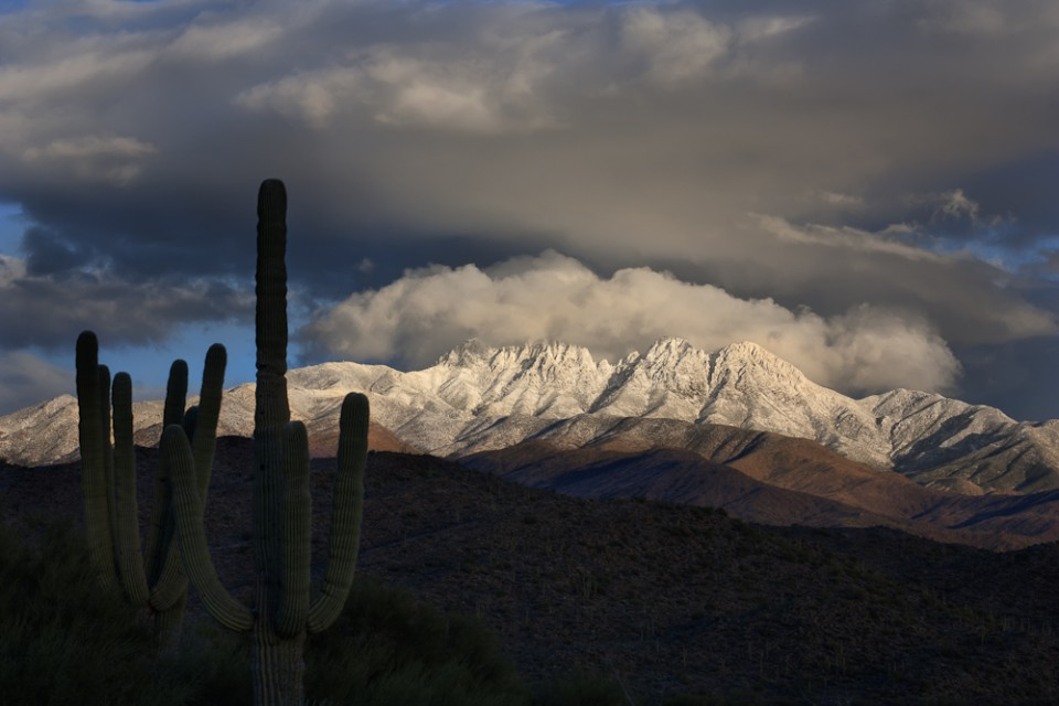 Snow on the Four Peaks Arizona