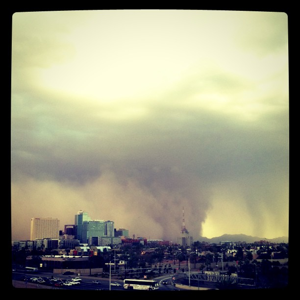 July 18th Downtown Phoenix Haboob - iPhone