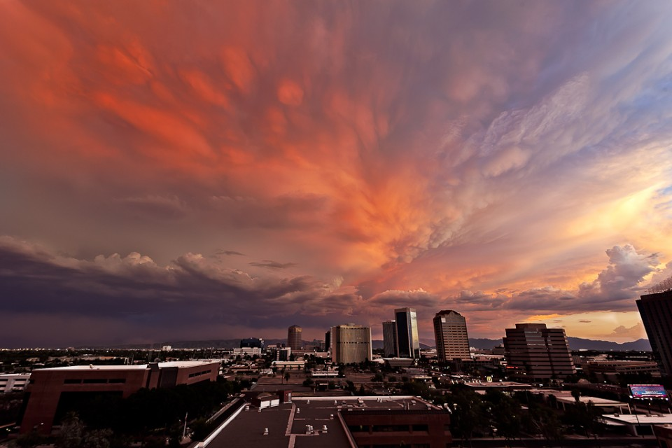 Downtown Phoenix Monsoon Sunset