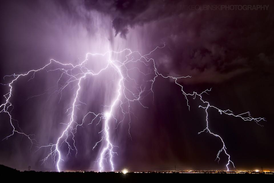 Chaos of Light - Casa Grand Arizona Lightning