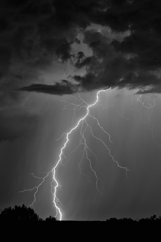 Lightning West of Sedona Arizona