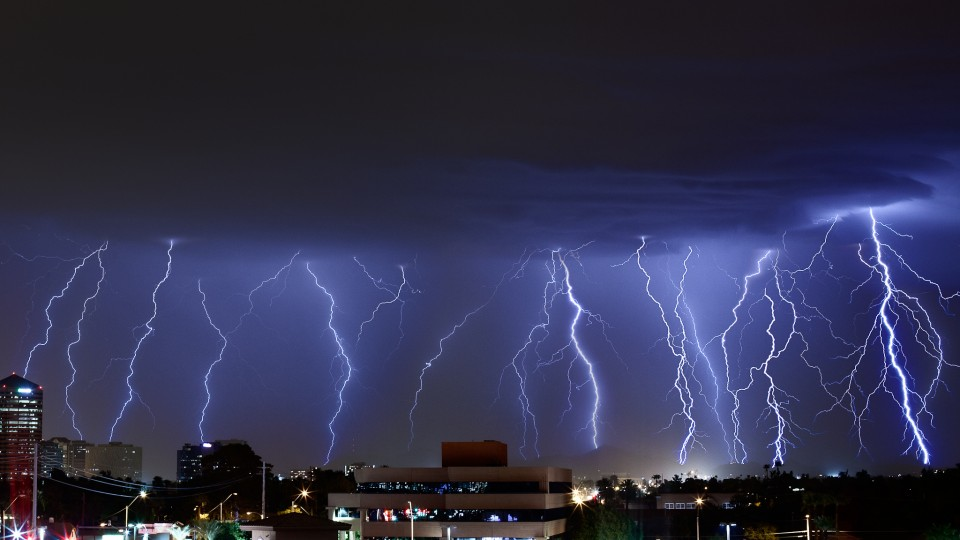 A barrage of lightning