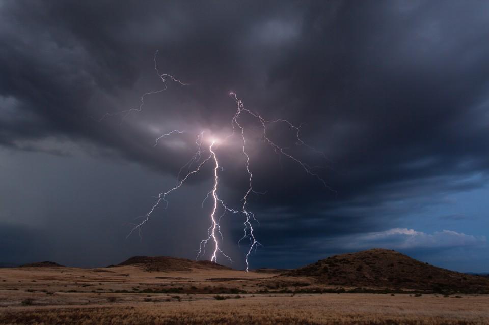 Lightning near Camp Verde