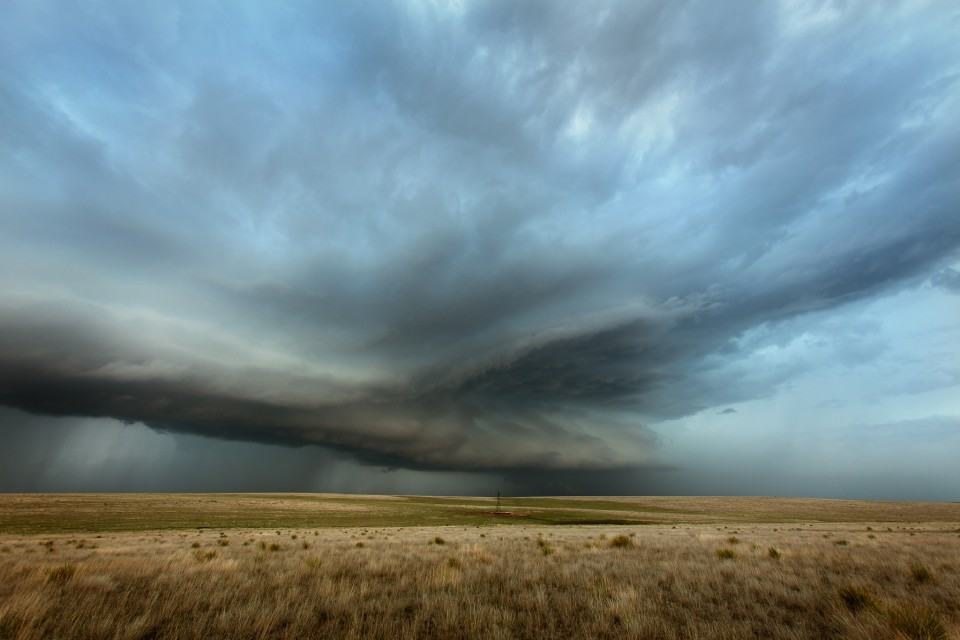 A beautiful supercell matures north of Pampa, Texas on April 16th, 2015. This storm was tornado warned and I happened to be on it from birth to this stage and it was one of the most amazing experiences of my storm chasing career.