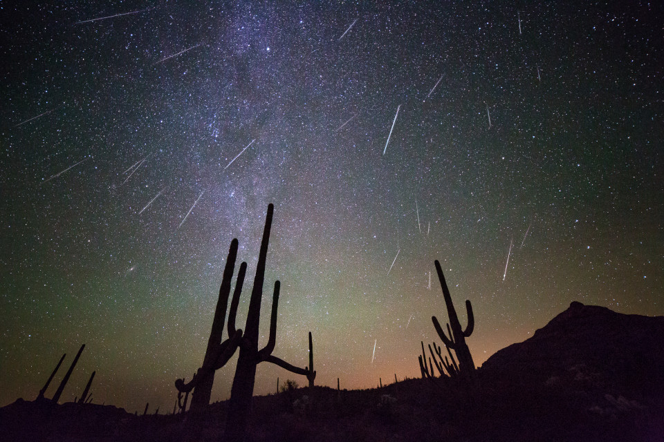 A few days ago I decided to get some buddies together to go shoot the Geminid Meteors for the peak of the shower Sunday into Monday. We met up in Organ Pipe in far southern Arizona and enjoyed some dark skies and one of the most active meteor showers I've ever seen! Got home and took this morning to put this image together...it's a stack/blend of about 25 meteors put into one photo. This is part of a time-lapse sequence as well, shot at f/2.8, 20 seconds and ISO 5000.