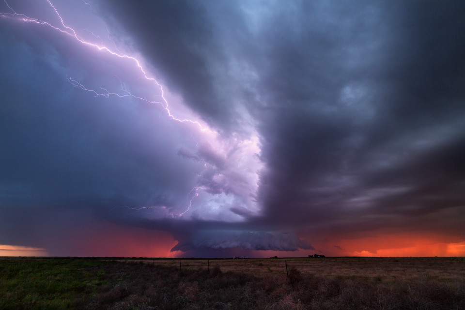 Standing here, near Bledsoe, Texas on the night of May 29th...it felt like I had traveled to another planet. The wind, the storm, the lightning...but it was the surreal orange glow everywhere that created this otherworldy mood which I'll never forget.