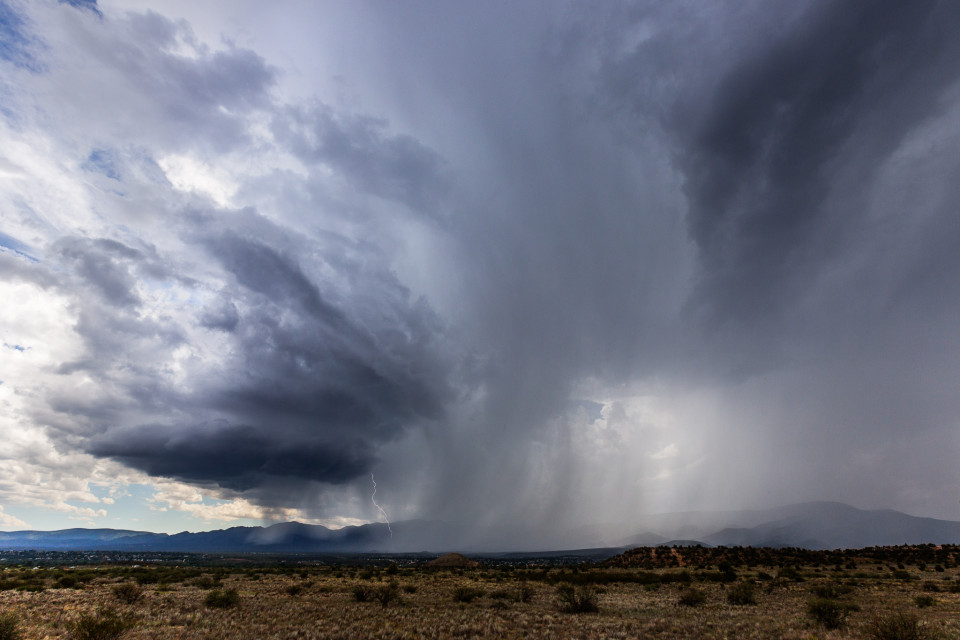 Seeing something like this in Arizona is super special, because sculpted mesocyclones like this one are kinda rare. It was amazing to watch this storm spin off the mountains, split apart and suddenly see this gorgeous meso that looked like something you'd see out on the plains during the spring.