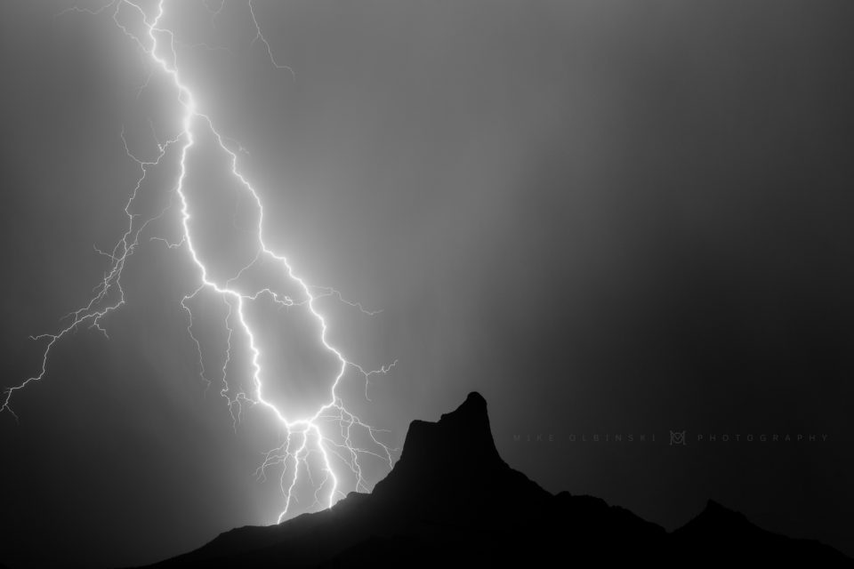 A shot I've been trying to get for years now...last night it happened. A monster lightning strike just behind the iconic Picacho Peak that sits between Phoenix and Tucson along Interstate 10.