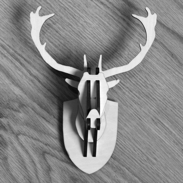 Mini Stag Deer Head Wall Hanging