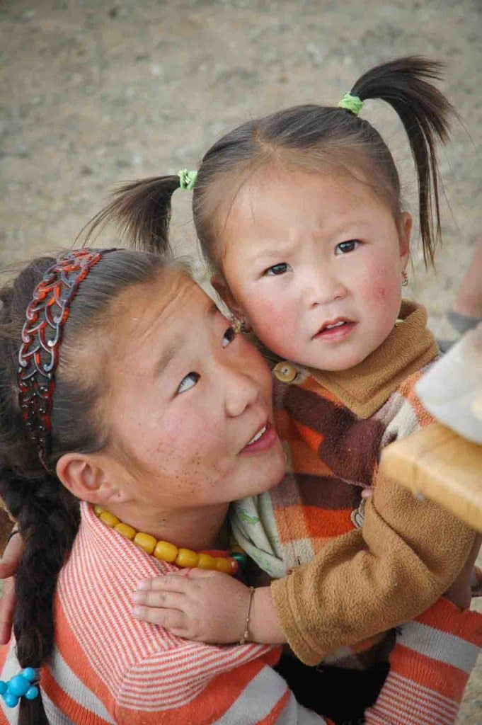 Portrait of Mongolian girls