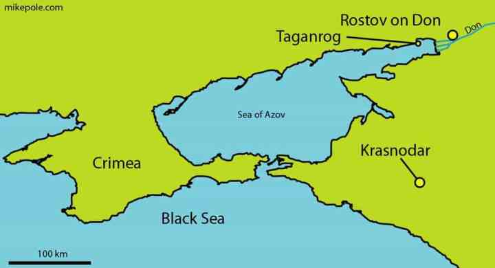 Location map pf Taganrog, South Russia.