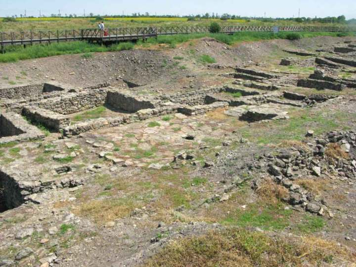 The ruins of Tanais, South Russia.