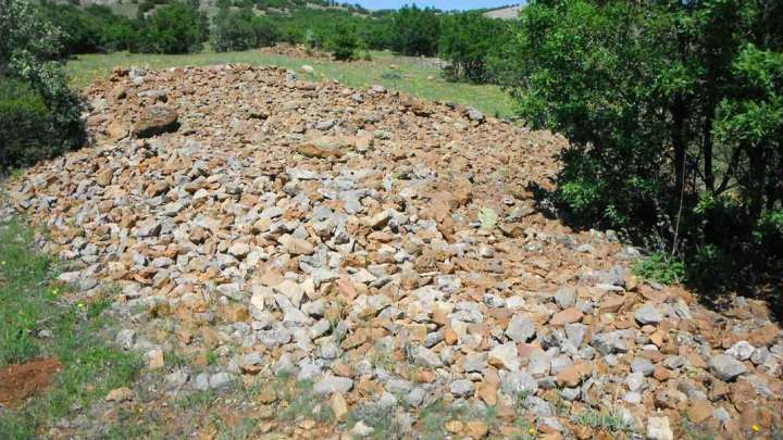 A huge pile of rocks. What was this?