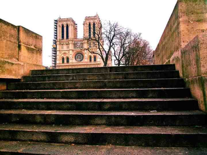 The steps of the Crypt will take you down below the level of Notre Dame, and way further back in time.....