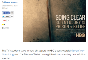 Going Clear Emmy Sweep