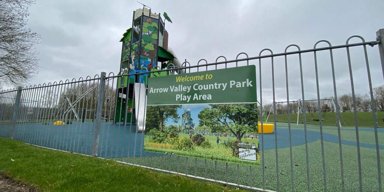 New playground at Arrow Valley Country Park