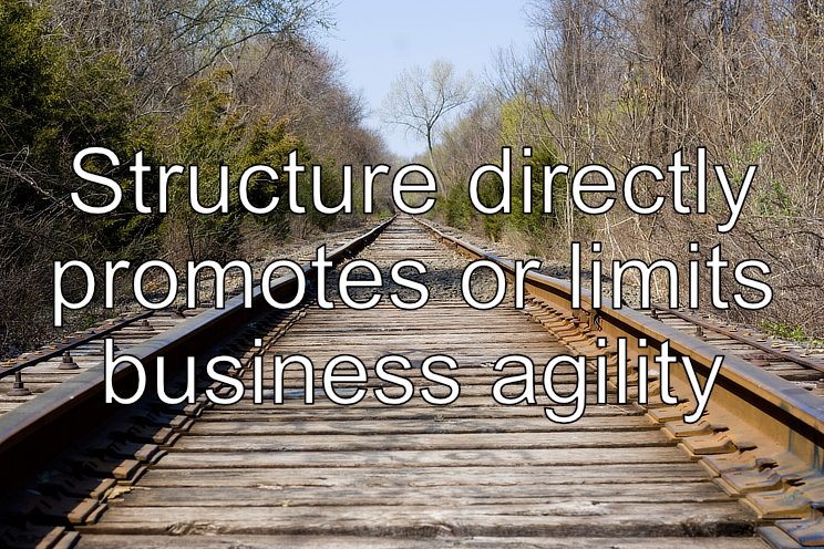 Structure directly affects business agility - Mike Russell