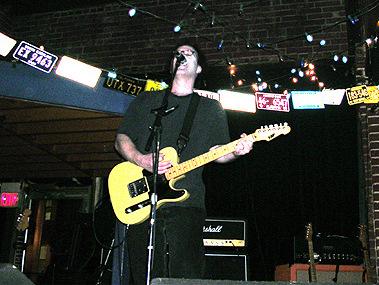 Mike Shupp at IOTA Iota Club and Cafe, 9/6/03 In Arlington, VA, opening for Tommy Keene (Photo: Kelly Kilga)