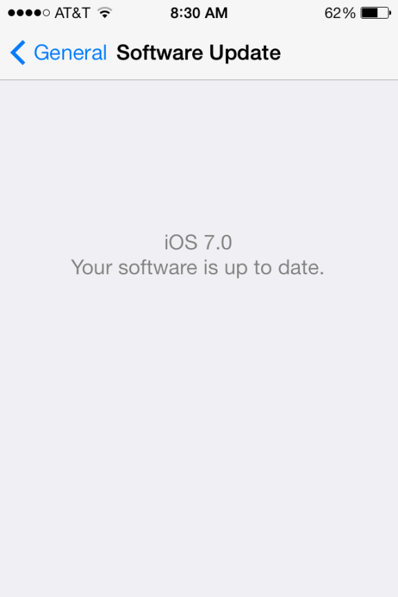 iOS 7 - Software Update