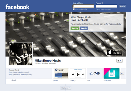 Mike Shupp Music on Facebook