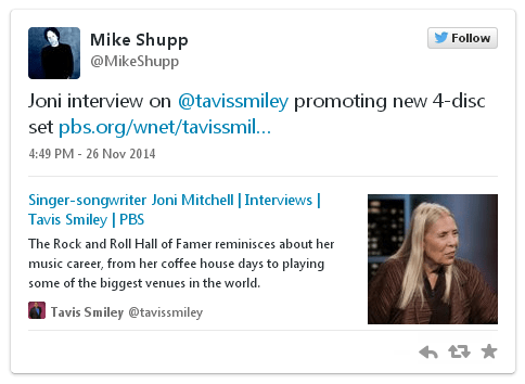 Joni Interview on Tavis Smiley