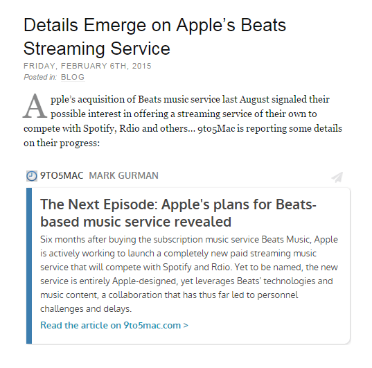 Details Emerge on Apple's Beats Streaming Service
