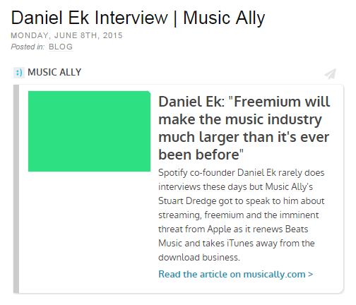 Daniel Ek Interview | Music Ally