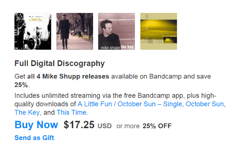 Mike Shupp | Full Digital Discography