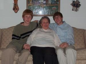Grandma Ronnie with Matt and I a few years ago