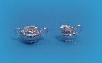Miniature silver Sugar Bowl & milk jug