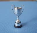 Miniature silver and ebony trophy cup