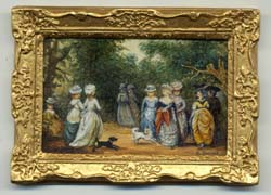Miniature painting 0099 Society Ladies Strolling