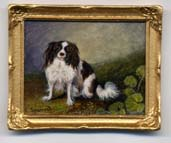 miniature painting 0151 Portrait of a King Charles Spaniel