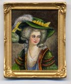 Miniature painting 0159 Lady with a Green Hat