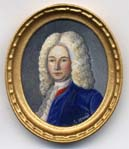 Miniature painting 0174 Oval Portrait of Gent in Blue