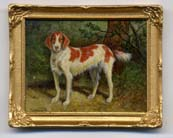 Miniature Painting 0197 Brown & White Dog