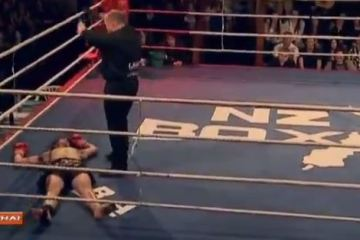 fighter gets KO'd but won't quit