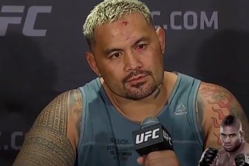 Mark Hunt had some strong words when calling Alistair Overeem a cheating bum.