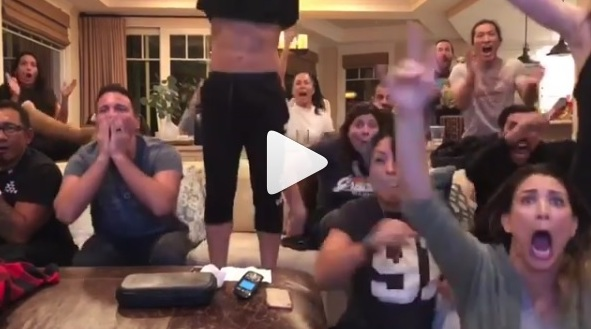 Video of the Gracie and T-City family reacting to Brian Ortega's big win