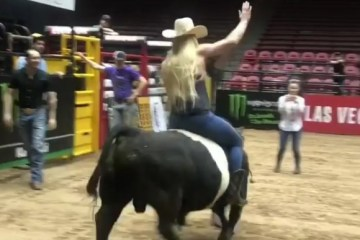 holly-holm-bull-riding-first-time