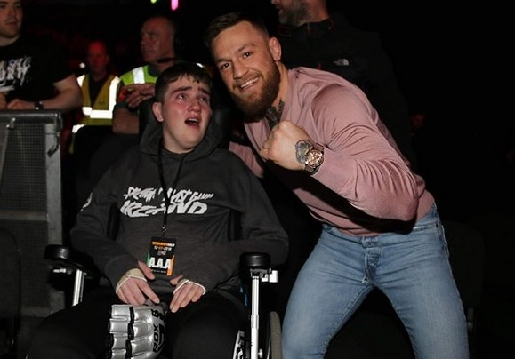 Conor McGregor uses his celebrity to make a dream come true for a fan