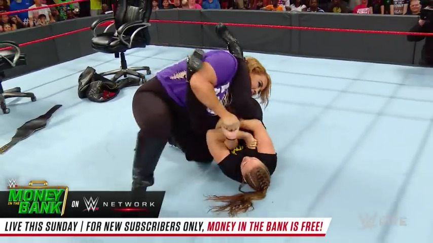 Ronda Rousey final hype segment before going for WWE gold on Sunday