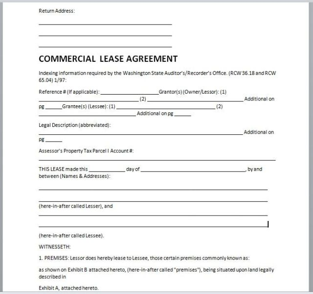 Commercial Lease Agreement Template 10